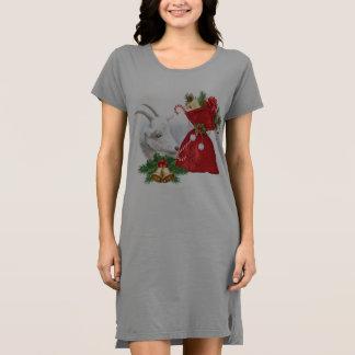 Vestido Navidad lindo Sleepshirt de la cabra