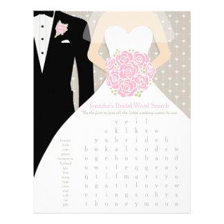 Vestido nupcial del rosa del juego de búsqueda de tarjetas publicitarias