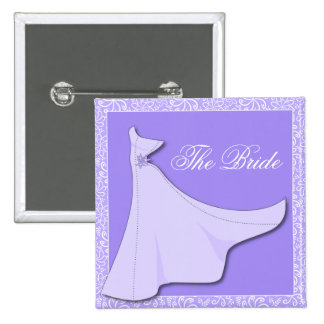 Vestido nupcial púrpura - botón nupcial de la duch pin