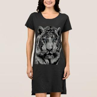 Vestido Ojos azules blancos y negros del tigre