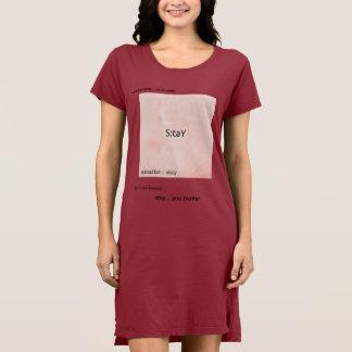 vestido para mujer de la camiseta de la estancia