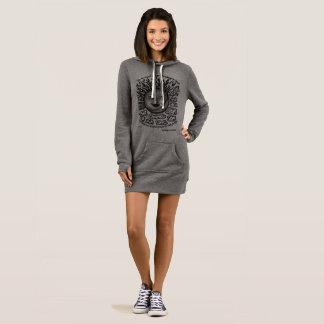 vestido para mujer gris y negro de la sudadera con