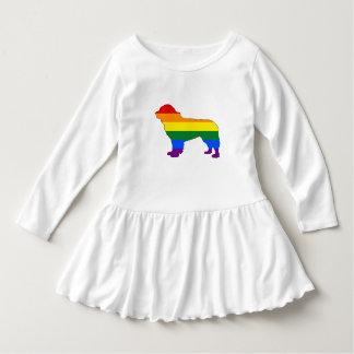Vestido Perro de Terranova del arco iris