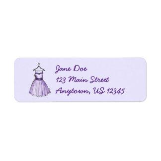 Vestido púrpura del baile de fin de curso del etiquetas de remite