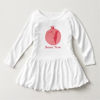 Vestido rosado del volante del niño de Shana Tova Camiseta