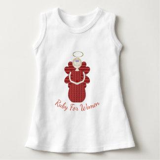 Vestido Rubí para el ángel del rojo de las mujeres
