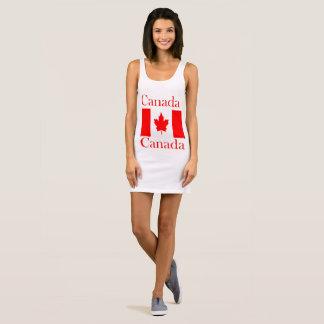 Vestido Sin Mangas Bandera conocida de Canadá