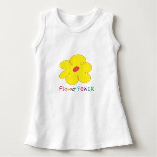 Vestido sin mangas del bebé del flower power