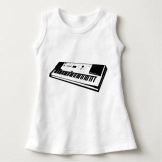 Vestido sin mangas del bebé del teclado