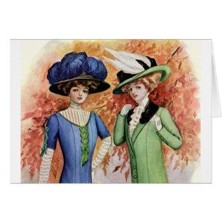 Vestidos del vintage tarjeta de felicitación