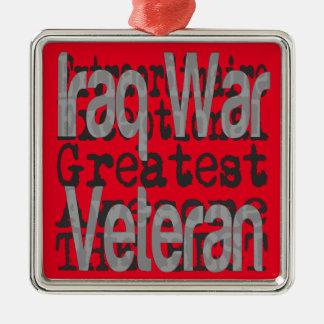 Veterano de guerra de Iraq Extraordinaire Adorno Navideño Cuadrado De Metal