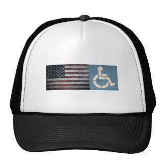 Veterano de guerra lisiado gorras de camionero