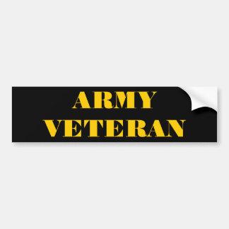 Veterano del ejército de la pegatina para el parac pegatina para coche