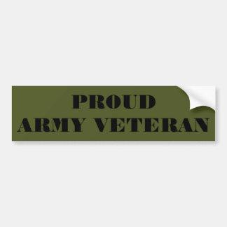Veterano orgulloso del ejército de la pegatina par pegatina para coche