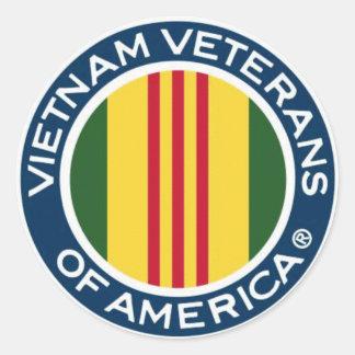 Veteranos de Vietnam de los pequeños pegatinas de Pegatina Redonda