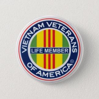 Veteranos de Vietnam del botón del miembro del