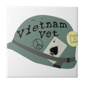 Veterinario de Vietnam Azulejo Cuadrado Pequeño