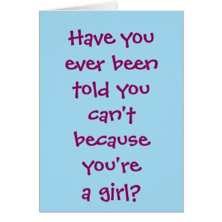 Veterinario del chica tarjeta de felicitación