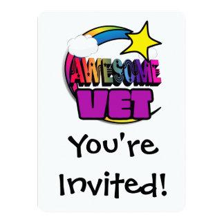 Veterinario impresionante del arco iris de la invitación 13,9 x 19,0 cm