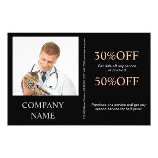 veterinario lindo del servicio del mascota de los  tarjetas publicitarias