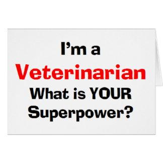 veterinario tarjeta de felicitación