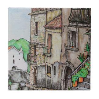 Vía Costarella y monasterio Azulejo Cuadrado Pequeño
