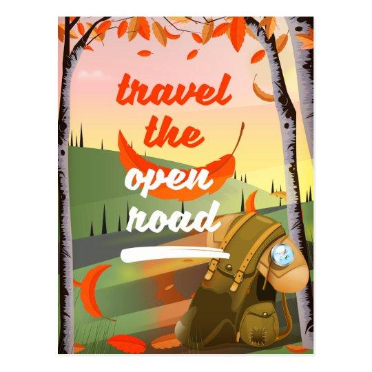 Viaja el hacer excursionismo abierto del camino postal