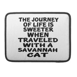 Viajado con el gato de la sabana funda para MacBook pro