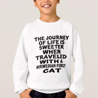 Viajado con el gato noruego del gato del bosque sudadera