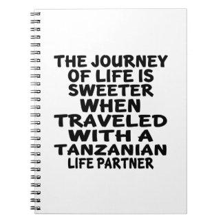 Viajado con un socio tanzano de la vida libreta espiral
