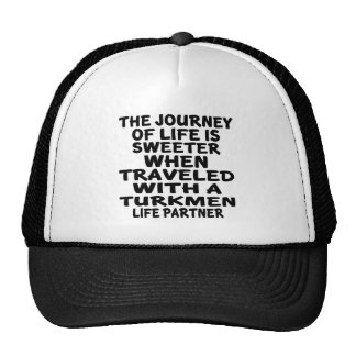 Viajado con un socio turcomano de la vida gorros bordados