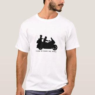 Viajar a la camiseta de la motocicleta