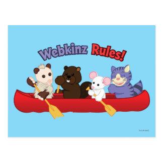 Viaje 2 de la canoa de las reglas de Webkinz el | Postal