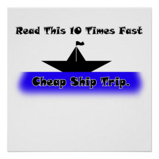 Viaje barato de la nave poster