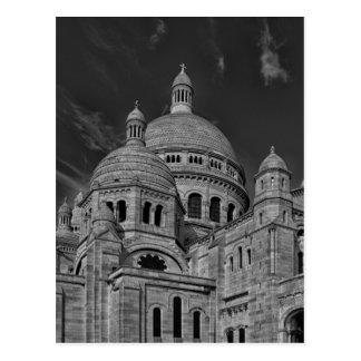 Viaje blanco negro de Sacre Coeur París Europa Postal
