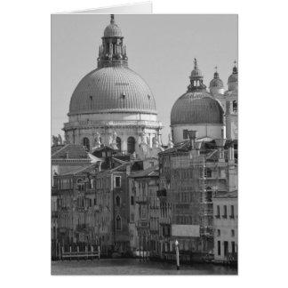 Viaje blanco negro de Venecia Italia del Gran Tarjeta De Felicitación