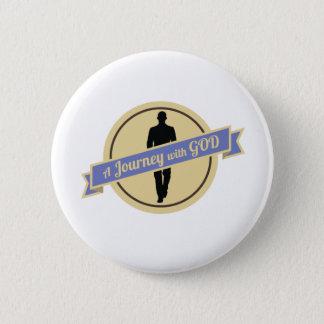 Viaje con dios con caminar del hombre (botón) chapa redonda de 5 cm