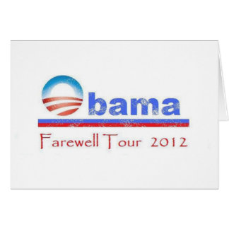 Viaje de despedida 2012 de Obama Tarjeta De Felicitación