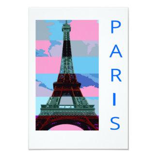 Viaje De Eiffel de París Invitación 8,9 X 12,7 Cm