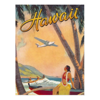 Viaje de Hawaii del vintage Postal