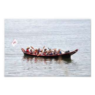 Viaje de la canoa de la isla de Squaxin Foto