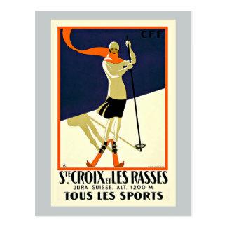 Viaje de los deportes del esquí de Sainte Croix Postal