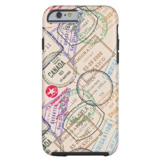 Viaje de los sellos del pasaporte funda resistente iPhone 6