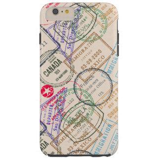 Viaje de los sellos del pasaporte funda resistente iPhone 6 plus