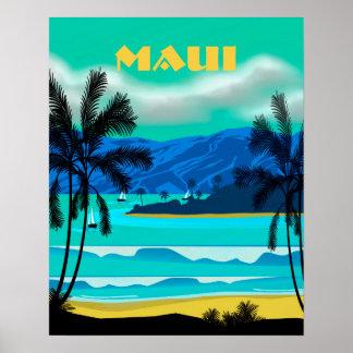 Viaje de Maui Hawaii Póster