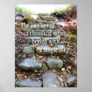 Viaje de mil millas póster