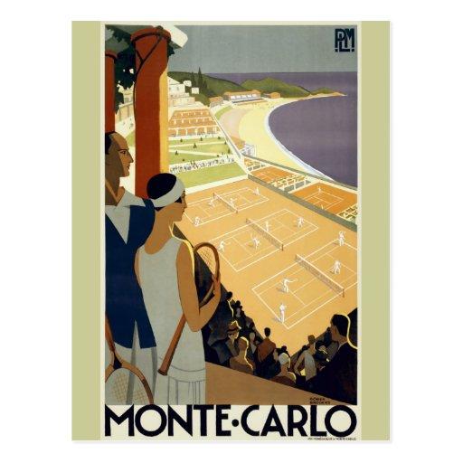 Viaje de Monte Carlo Mónaco del vintage Postales