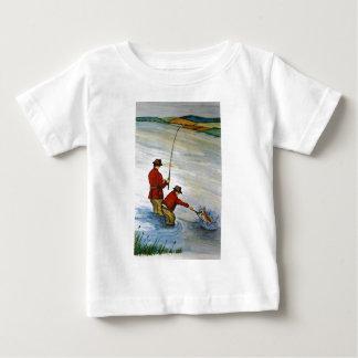 Viaje de pesca del padre y del hijo camiseta de bebé