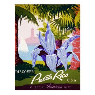 Viaje de Puerto Rico del vintage - art déco Postal