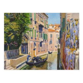 Viaje de Venecia Italia de las góndolas del Gran Postal